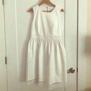 Calvin Klein Lace Trim Fit and Flare dress